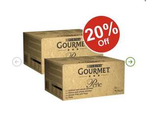 Gourmet Perle cat food 192 pouches £47.98 delivered @ Zooplus