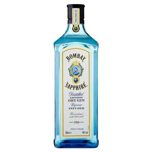 Bombay Sapphire gin 1 litre for £20 at Sainsburys