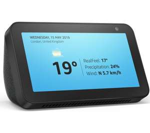 AMAZON Echo Show 5 (2019) Blk/Wht - £39.99 // Amazon Echo Show 8 Charcoal £ 59.99 @ Currys