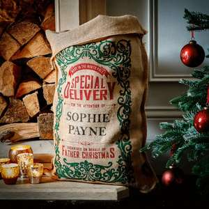 Personalised Christmas Sack - 15 Styles £9.99 for one or £16.99 for Two via handmadechristmasco on Groupon (From £2.99 P&P