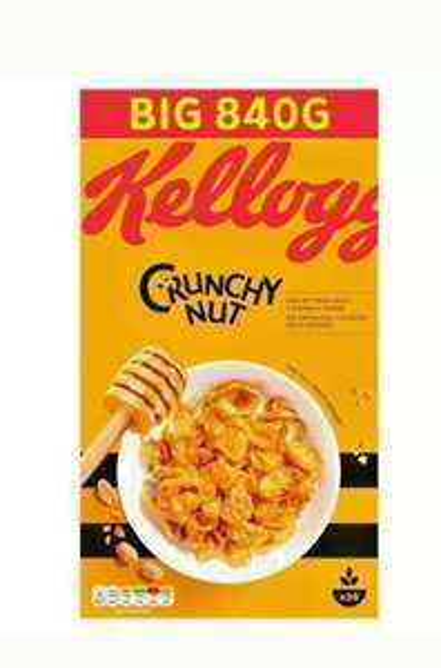 Kellogg's Crunchy Nut Cornflakes 840g are £1.93 @ Tesco instore, Oldham