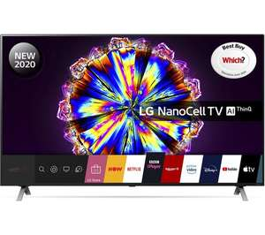 LG 65NANO906NA (2020) LED HDR NanoCell 4K Ultra HD Smart TV, 65 inch with Freeview , Freesat Free 5 Year Guarantee - £959 with code @ Hughes