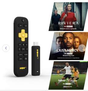 NOW TV Stick-1 Month Entertainment, 1 Month Sky Cinema & Sky Sports Day Pass £19.99 (free click & collect) @ Argos