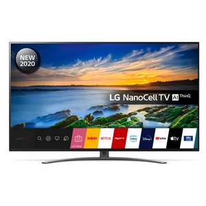 """LG 49NANO866NA 49"""" 4K Ultra HD NanoCell Smart TV and £25 giftcard with hdmi 2.1 with 5 years warranty £579 @ Hughes"""