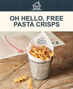 Zizzi Free bag of Pasta Crisps (Deliveroo, Just Eat, Uber Eats, Click & Collect) - Purchase Required (Inc Delivery Charge) / Select Accounts
