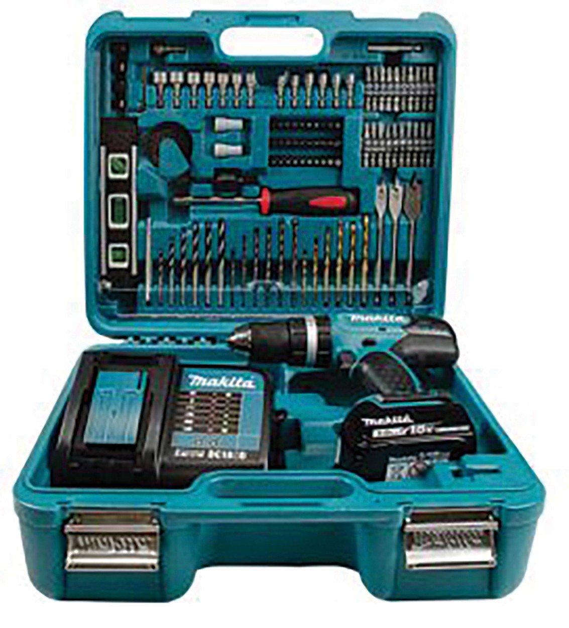 MAKITA DHP453FX12 18v Combi drill - 13mm keyless chuck + 101 Accessories £106 @ Howe Tools