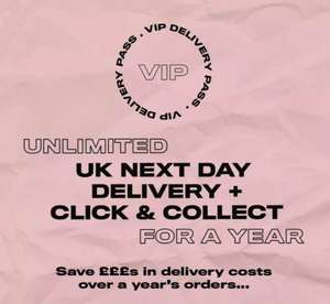 1 year unlimited uk next day delivery / click & collect now £5.99 @ Missguided