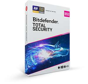 Bitdefender Total Security up to 5 devices / 1 year £21