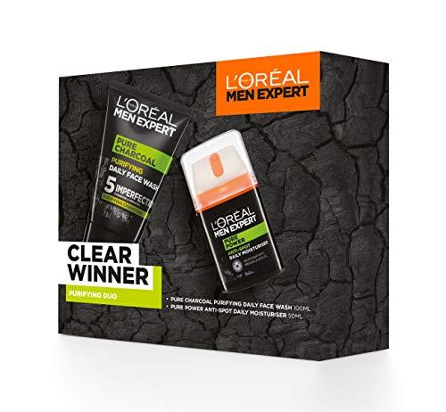 L'Oreal Men Expert Gift Set for Men, Clear Winner Purifying 2 Piece Toiletries Gift Set: Moisturiser Face Wash Men £8 + £4.49 NP @ Amazon