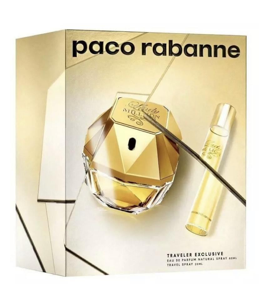 Paco Rabanne Lady Million Eau de Parfum 80ml EDP Gift Set £45.56 @ perfume_shop_direct / eBay