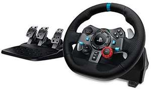 Logitech G29 Driving Force Racing Wheel and Floor Pedals, Real Force Feedback, Stainless Steel Paddle Shifters (PS5/PS4/PS3/PC)