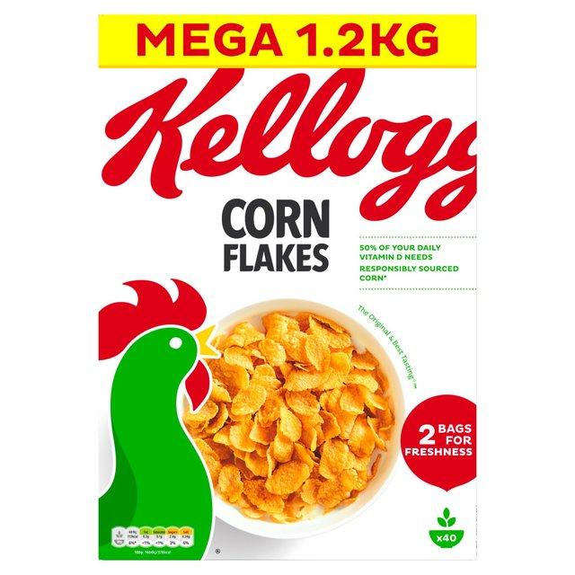 "Kellogg""s Cornflakes big box 1200 grams for £3 @ Ocado"