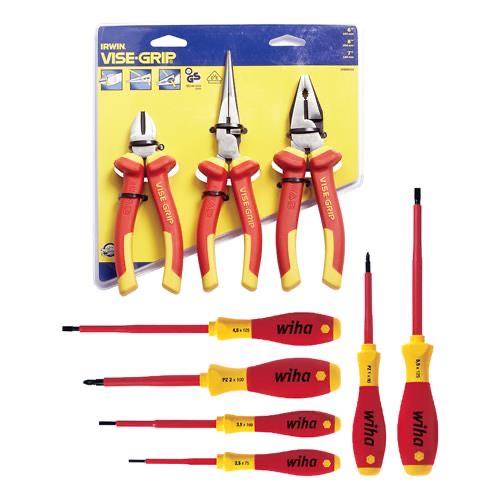 Wiha and Irwin 9 Piece VDE Pliers & Screwdriver Set