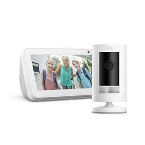Ring Stick Up Cam Battery, White, Echo Show 5, White - £74 @ Amazon