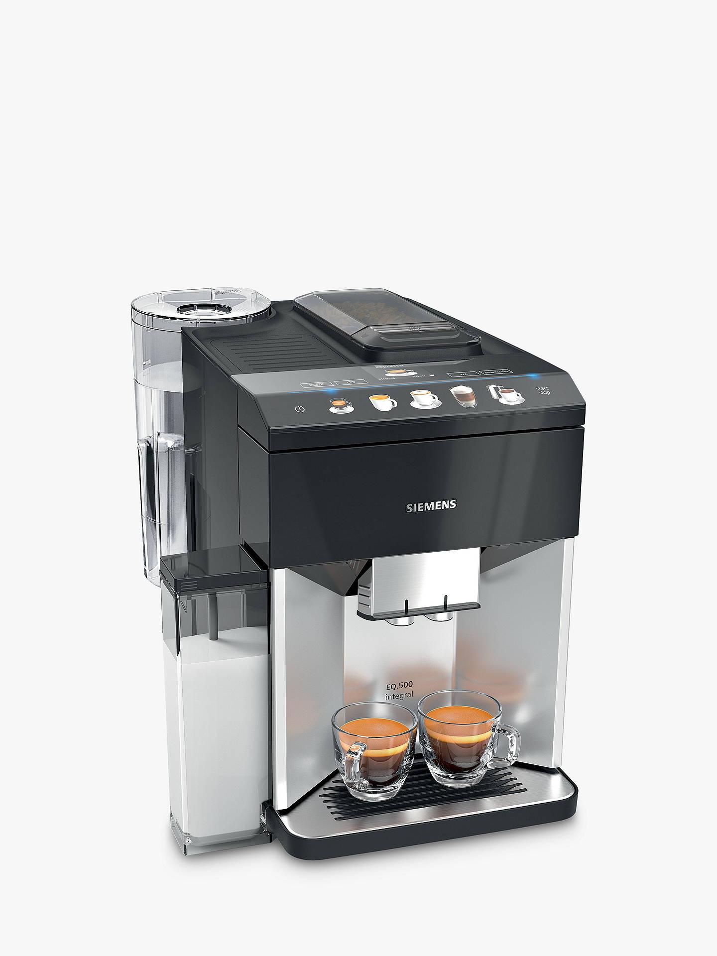 Siemens TQ503GB1 EQ.500 Bean to Cup Coffee Machine, Black £449 at John Lewis