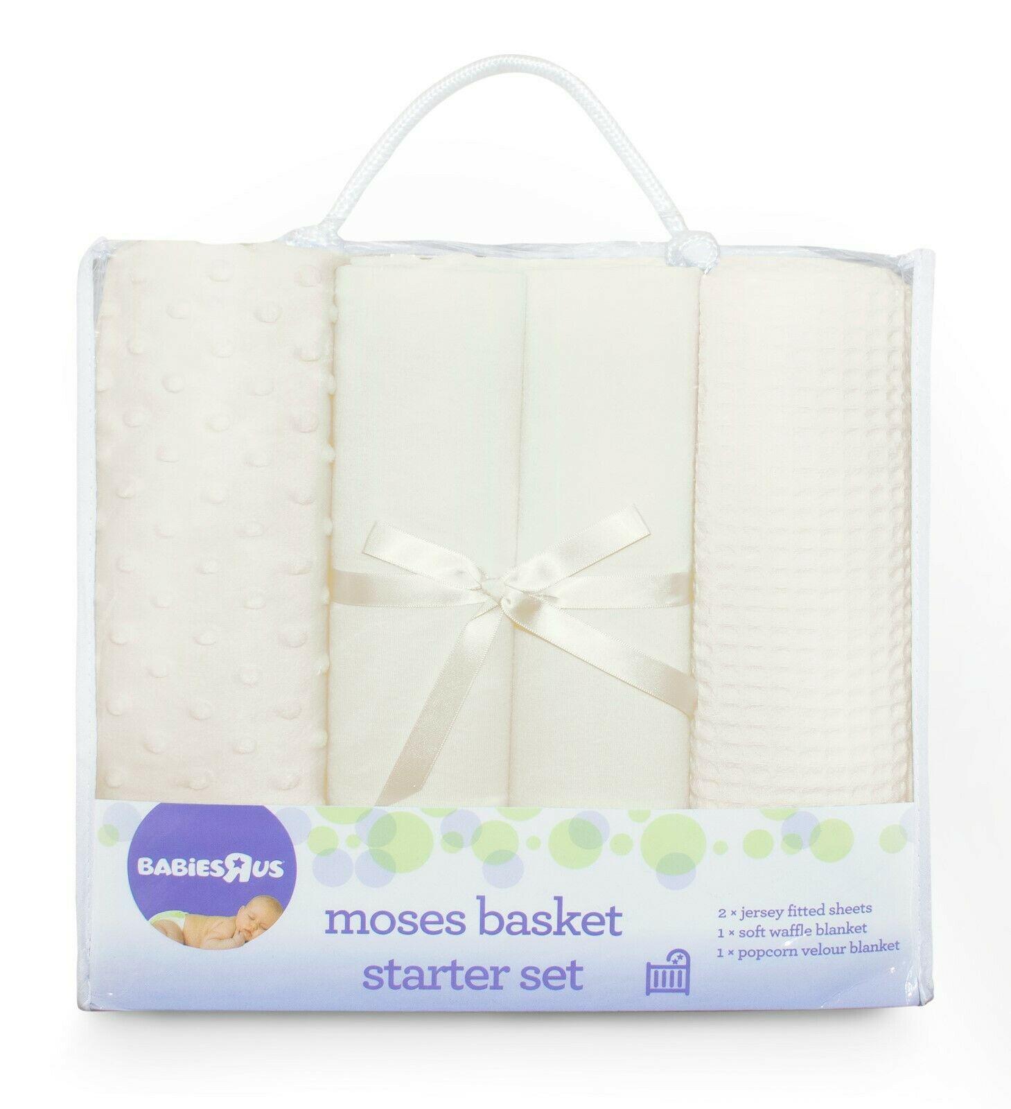 Babies R Us Mothercare 4-Piece pram& crib starter set in cream for £12.90 delivered @ Online4Baby