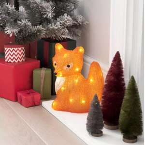 Argos Home Warm White Acrylic Light Up Fox Now £11.25 with Free Click and Collect From Argos