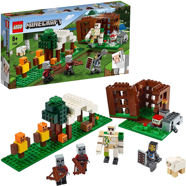 LEGO 21159 Minecraft The Pillager Outpost Action Figures Building Set, Iron Golem Adventure Toy £19.99 Prime + £4.49 NP @ Amazon