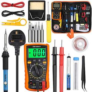 60W Soldering Iron Kit (14pcs Set) £11.99 Prime +£4.49 NP Sold by Zeweierweb and Fulfilled by Amazon