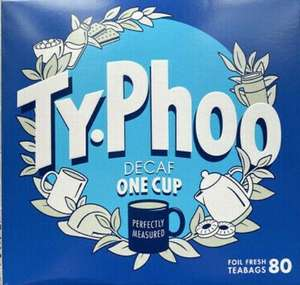 Typhoo One Cup tea bags (100 standard or 80 decaf) £1 instore @ Poundland, Crystal Palace