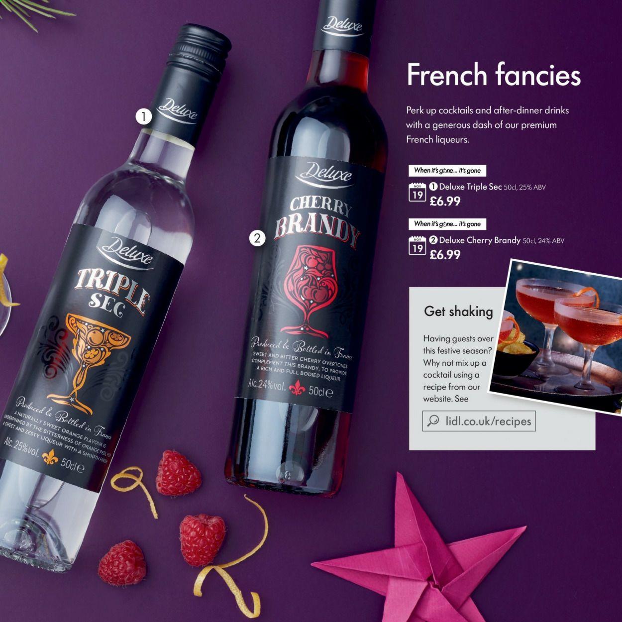 Triple sec ,cherry brandy £6.99 @ Lidl