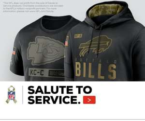 Salute To Service NFL £74.25 with code @ Fanatics