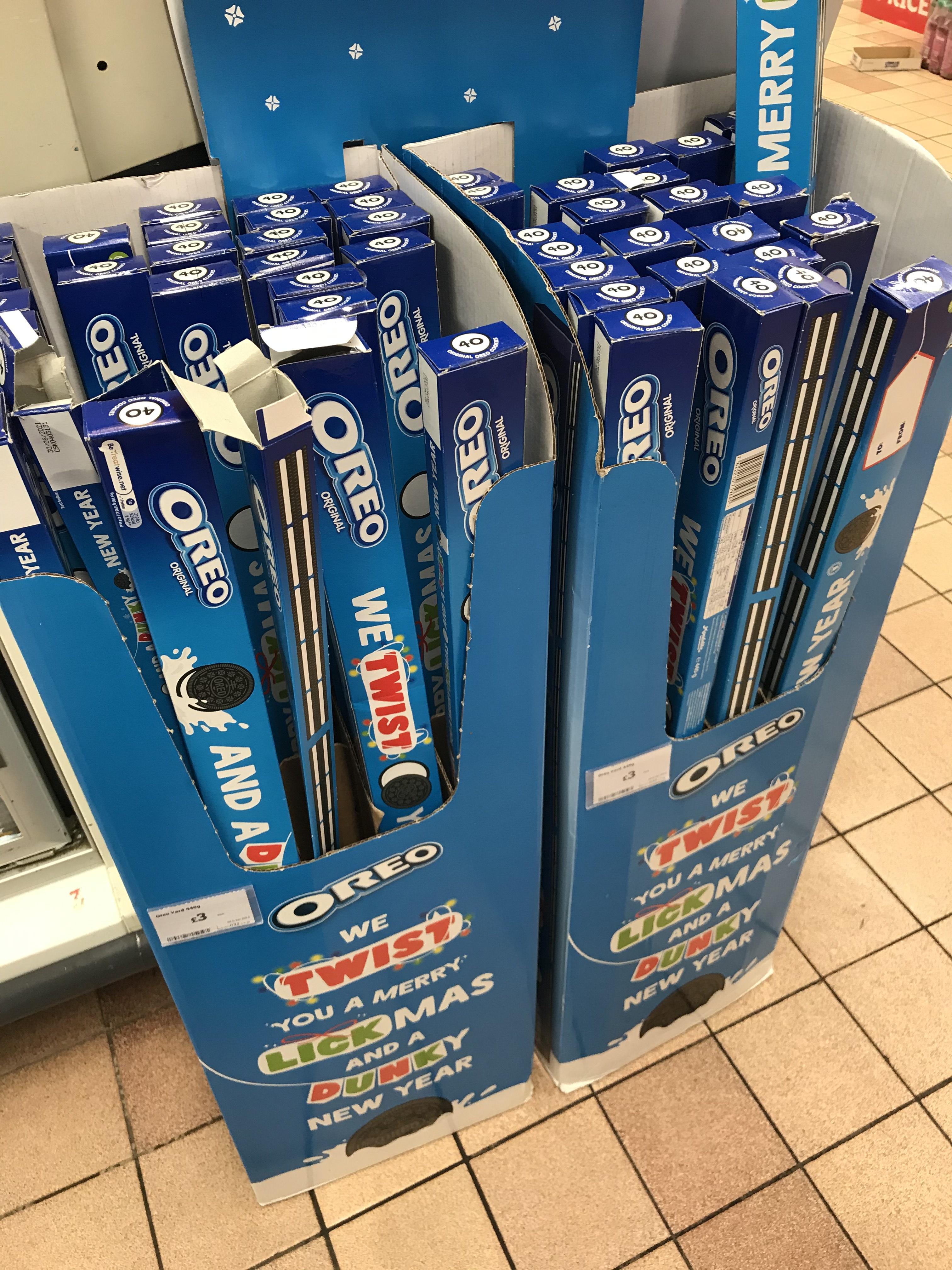 Oreo tube 440g for £3 at Sainsbury's East Ham