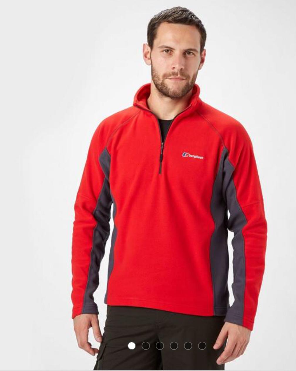BERGHAUS Men's Hartsop Half-Zip Fleece £25 collect in store @ Go Outdoors