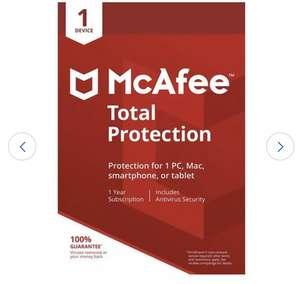 McAfee Total Protection 1 Year 1 User £5.60 (Click & Collect) @ Argos