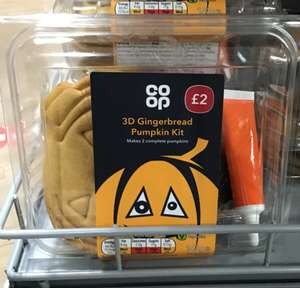 Co-op Halloween gingerbread pumpkin kit including icing and sprinkles 20p down from £2 instore, Manchester