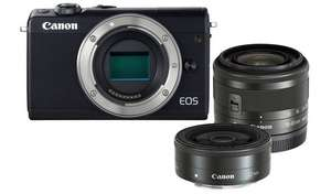 Canon EOS M100 24.2MP Mirrorless Camera with 15-45mm + 22mm Lenses £299 + free Click and Collect @ Argos
