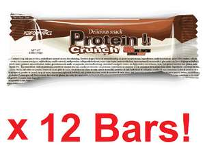 Performance Protein Crunch Bar 12 Bars Short Dated 1 Box £7.99/2 £14.38/3 £20.37/4 £25.56 Delivered @ Bodybuilding Warehouse / eBay
