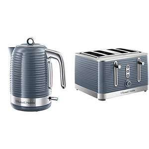 Russell Hobbs Inspire Electric Kettle Cordless Hot Water Dispenser with 4 Slice Toaster Wide Slot £64 @ Amazon