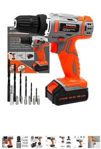Terratek cordless drill 13 pieces with battery and charger £28.80 Sold by Futura Direct Ltd and Fulfilled by Amazon