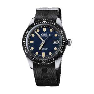 Oris Divers Sixty-Five Blue Dial 42mm Mens Watch Fabric Nato Strap £960 @ Chisholm Hunter