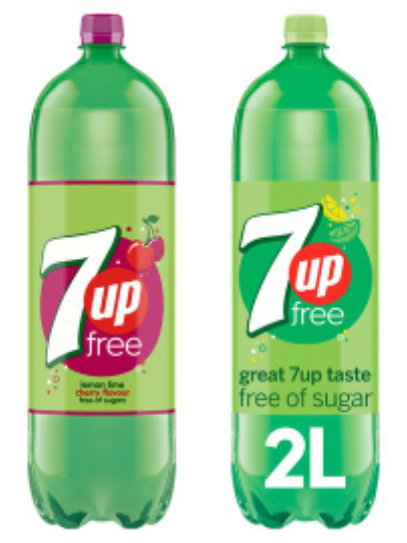 7Up Free Cherry / 7Up Free 2lt Bottles - £1 (Clubcard price) @ Tesco
