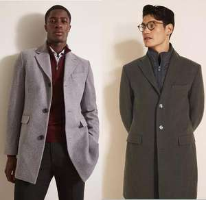 Selection of Men's Wool Blend Coats now £59.95 using code (+£4.95 delivery) + Free Returns @ Moss Bros