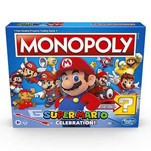 Monopoly Super Mario Celebration Edition Board Game for Super Mario Fans for Ages 8 and Up, With Video Game Sound Effects £25.99 @ Amazon