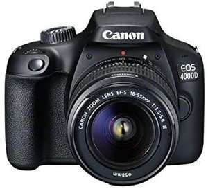Canon EOS 4000D DSLR Camera and EF-S 18-55 mm f/3.5-5.6 III Lens - £218.83 from Amazon Warehouse