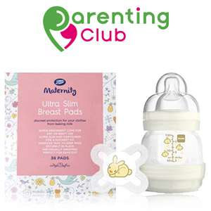 Free MAM bottle 130ml and soother worth £7.99 or a pack of Boots Maternity Breast Pads (£5.49) with Boots Parenting Club