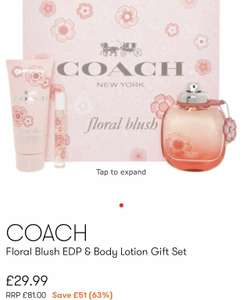COACH Floral Blush EDP & Body Lotion Gift Set 90ml £33.98 delivered @ TKMaxx