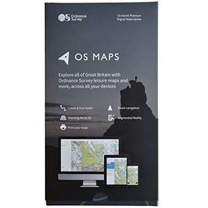 OS Maps 12-Month Premium Digital Subscription Box at Amazon for £20.25