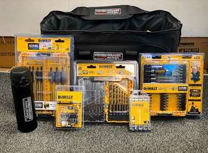 MEGA DeWalt 5 Piece Accessory Bundle with PTM Flask and Heavy Duty Bag at Powertoolmate for £69.98
