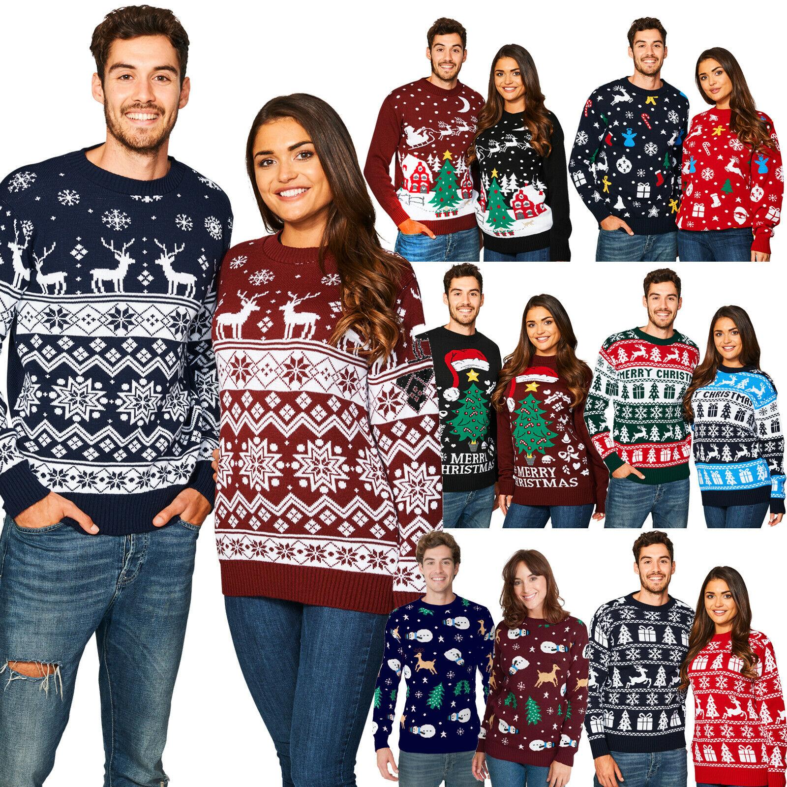 New Unisex Men Women Santa Xmas Christmas Novelty Fairisle Retro Jumper Sweater £9.99 at ebay newcampltd