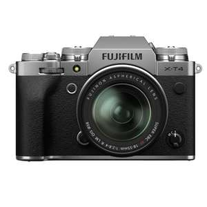 Fujifilm X-T4 mirrorless camera with 18-55mm lens, silver, plus 'free' Fujifilm battery, £1,594 from Castle Cameras