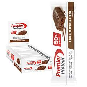 Premier Protein Protein Bar Chocolate Caramel 24x40g (50% protein) £20.27 delivered with fee free card at Amazon Germany
