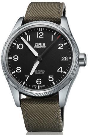 ORIS Watch BIG CROWN PROPILOT DATE Olive Textile Watch £795 @ Jura / CW sellors.