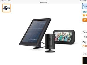 Ring Stick Up Cam Solar, Black, Echo Show 5, Black Or white £114 @ Amazon