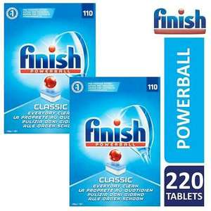 2 x Finish Classic Powerball Dishwasher Tablets Pack Of 110 (Total 220 Tablets) £15.65 delivered @ official_brand_outlet / ebay