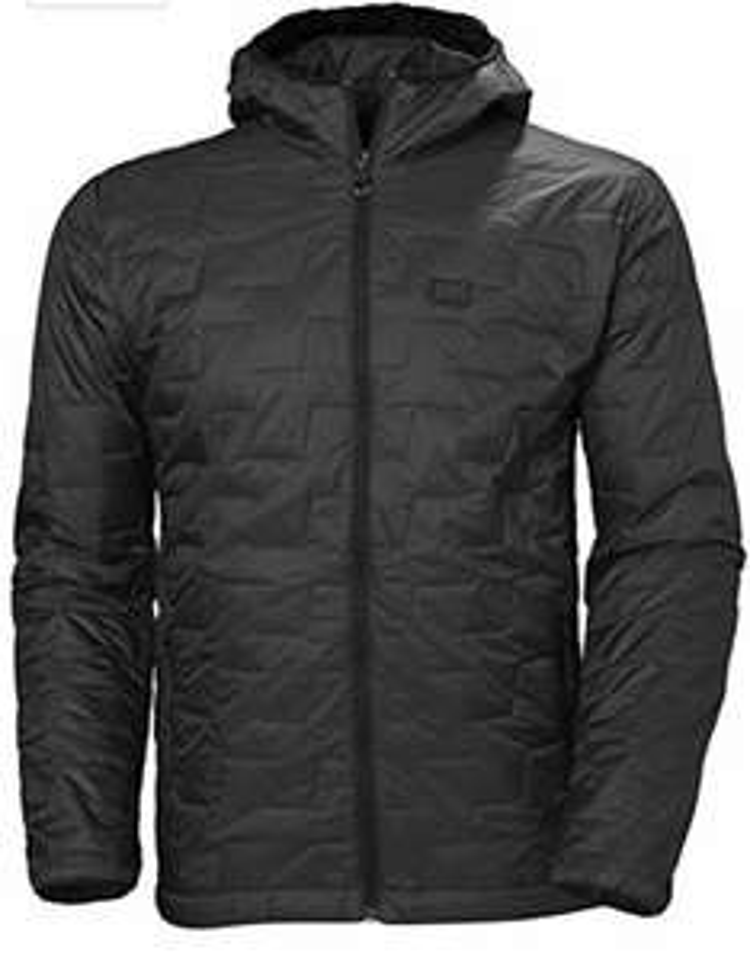 Helly-Hansen Men's Lifaloft Lightweight Insulator Hooded Full Zip Jacket - matte black L - £54.26 @ Amazon